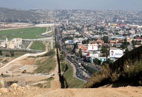 Confine tra Messico (Tijuana) e San Diego (Messico) nel 2007