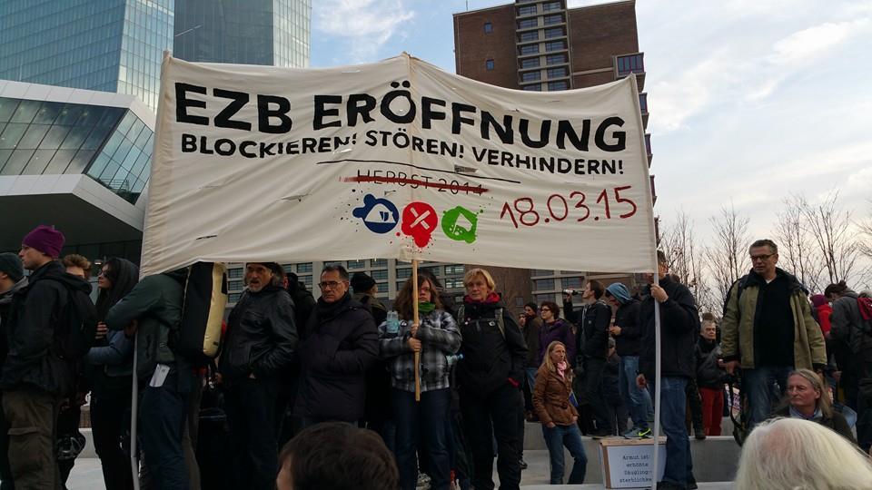Blockupy (foto da fb Frankfurt am Main auf die Strasse)