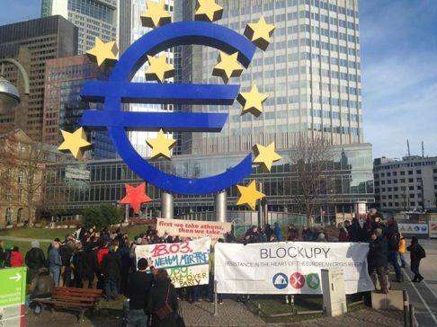 Blockupy (repertorio - foto da fb Solidarity4All)