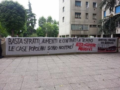 (foto fb Comitato Inquilini via Gandusio)