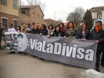 Patrizia Moretti, Ilaria Cucchi, Lucia Uva, Domenica Ferrulli, Paolo Scaroni. Corteo #vialadivisa, Ferrara 15/02/2014