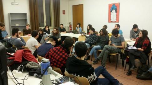 Aula Regeni (foto fb Assemblea Scienze Politiche)