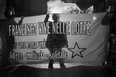 Francesco vive nelle lotte (Foto Giulio Cicanese)