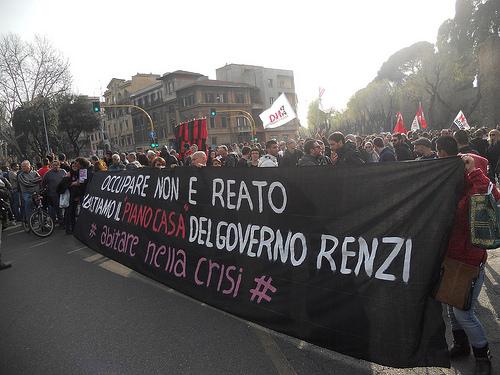 Abitare nella crisi, Roma 15 marzo 2014 (foto Zic)