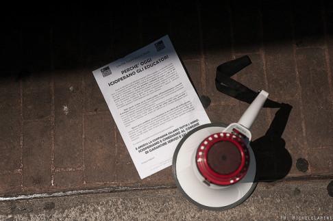 (sciopero educatori - foto © Michele Lapini)