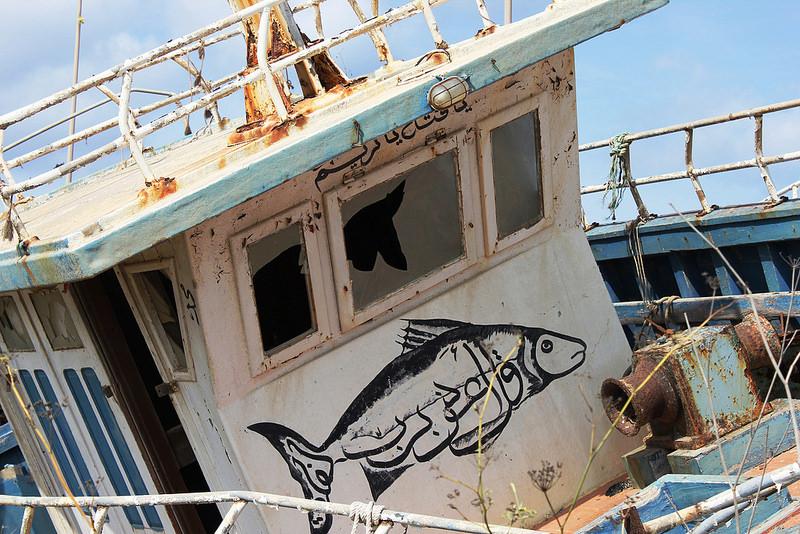Barcone, Lampedusa (foto da flickr Gue/Ngl)
