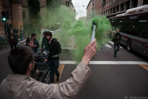 Corteo di Hobo contro i divieti di dimora - © Michele Lapini