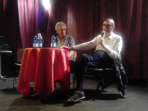 Serge Quadruppani e Valerio Evangelisti (foto Vag61)