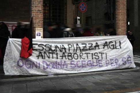 Presidio contro No194 (foto Flavia Sistilli)