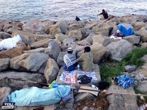 Migranti a Ventimiglia, giugno 2015 (foto YouReporter)
