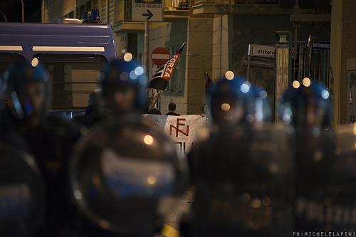 Polizia, Forza Nuova -  © Michele Lapini
