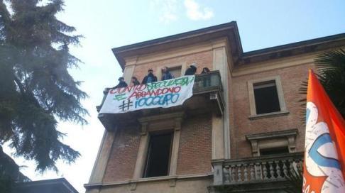 #IoOccupo viale Aldini (foto twitter @LabasBo)