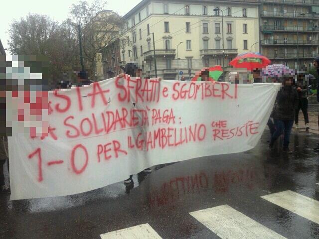 Sgomberi Milano (foto tw @cs_cantiere)