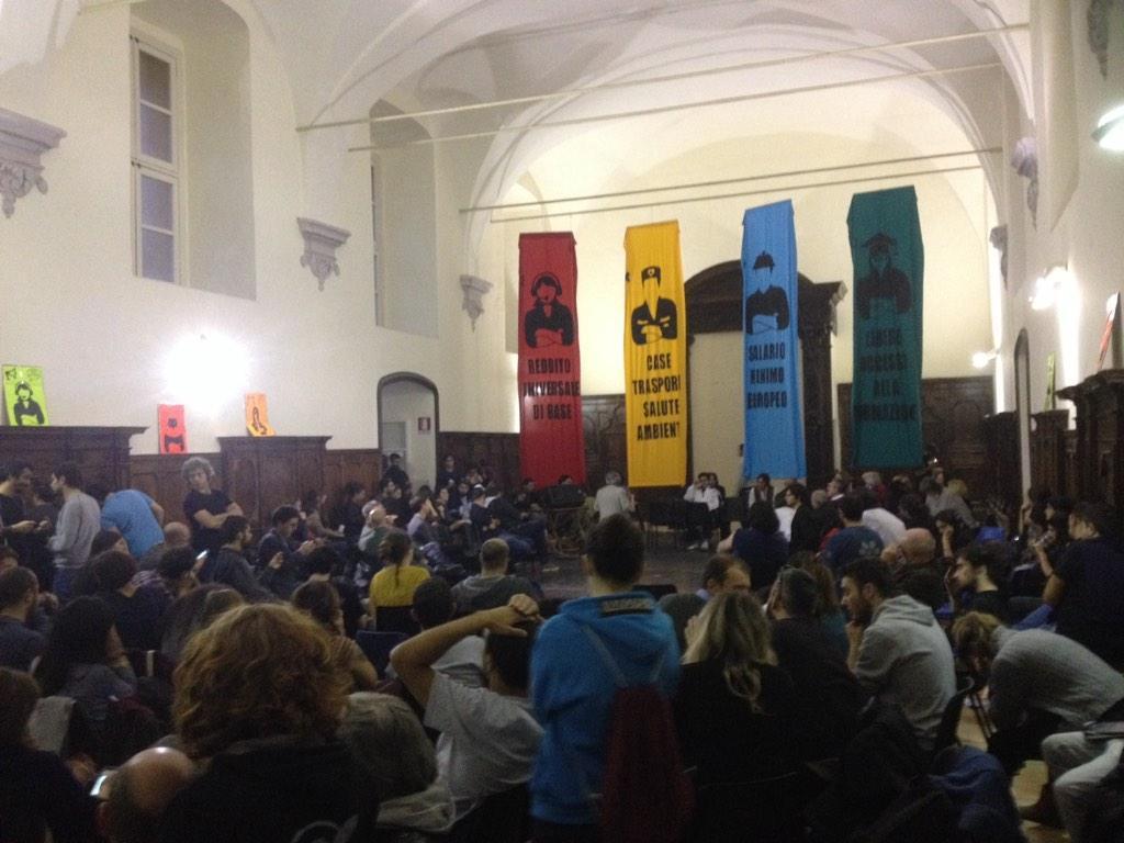 Assemblea Sciopero Sociale a Napoli (foto da twitter @indipendentieu)