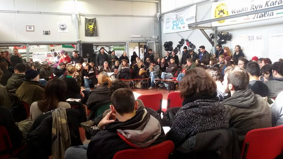 Strike meeting (foto da twitter @ReteDellaConoscenza)