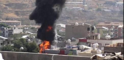 La città curda di Cizre assediata dall'esercito turco (foto da twitter @OnurGunayyy, 9 settembre 2015))