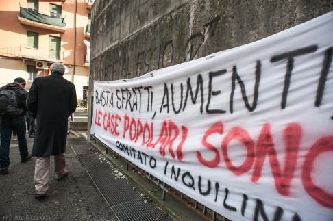 Picchetto antisfratto in via Gandusio - © Michele Lapini