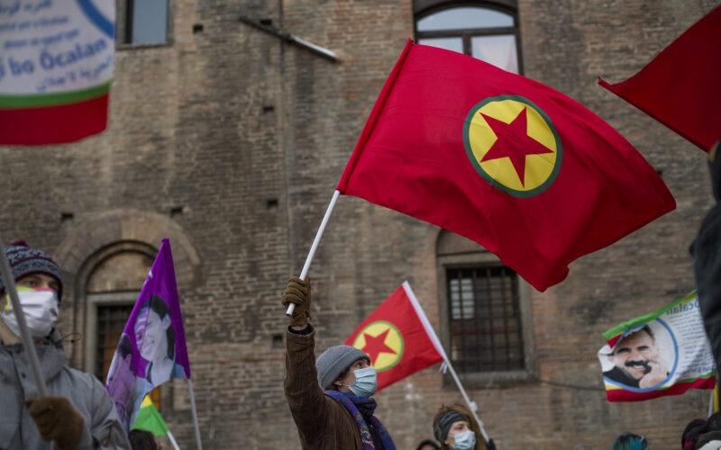 Presidio per la libertà per Ocalan e per il popolo del Rojava - © Michele Lapini