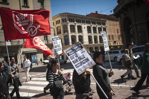 Manifestazione contro il Piano Casa