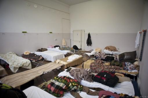 Il dormitorio in via del Lazzaretto © Michele Lapini