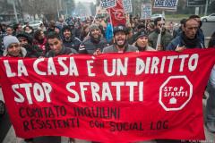 Corteo stop sfratti - © Michele Lapini
