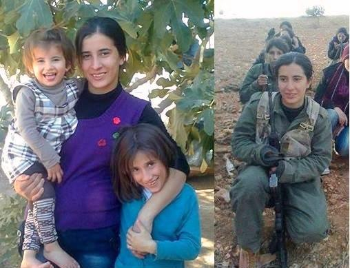 Kurdish mother Nasreen, left two children behind & died fighting agnst ISIS in #Kobane (foto twitter@mutludc)