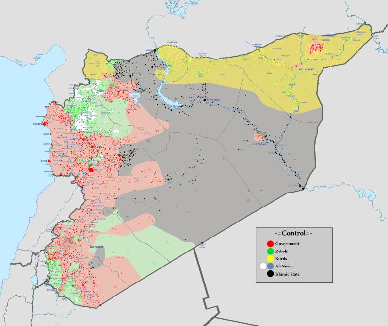 Guerra civile siriana al 13 marzo 2016