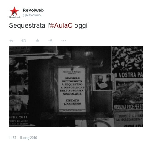 Tweet sequestro Aula C