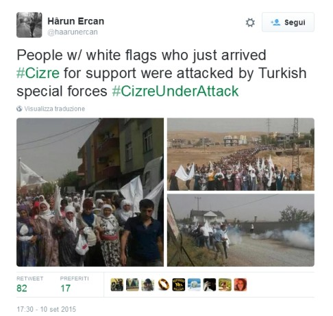 Cizre under attack (Twitter)