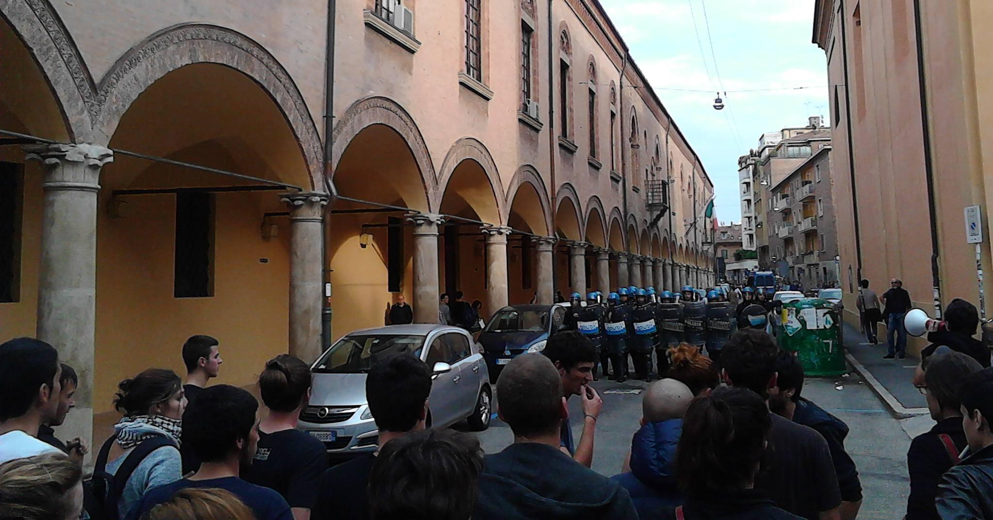 Hobo dopo lo sgombero (foto Zic.it)