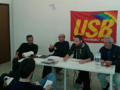 Conferenza stampa USB (foto Zic)
