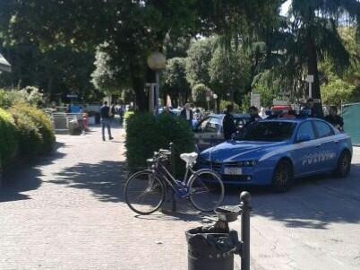 Polizia al Sant'Orsola (foto Zic)