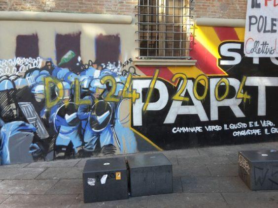 Murales Cua danneggiato (foto Zic)