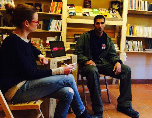 """Karim """"Marcello"""" Franceschi, volontario Ypg (foto Arvultùra)"""