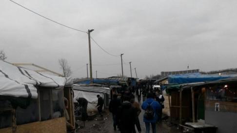 Calais jungle (foto twitter @CWBIreland)