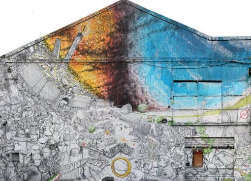 Murales di Blu a Xm24