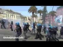 Napoli / Arriva Renzi, lacrimogeni e idranti sui manifestanti [audio+video]