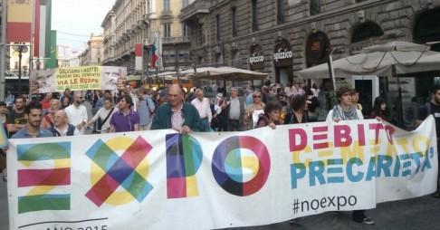 Corteo NoExpo Milano 5 giugno 2014 (foto da twitter @Bkk003)