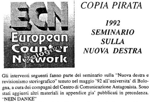 (Ecn - 1992 Seminario sulla nuova destra)