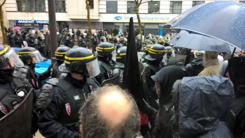 Sciopero generale Francia (foto Clash City Workers)