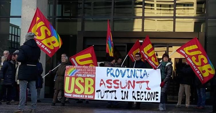 Presidio in Regione (foto Usb)