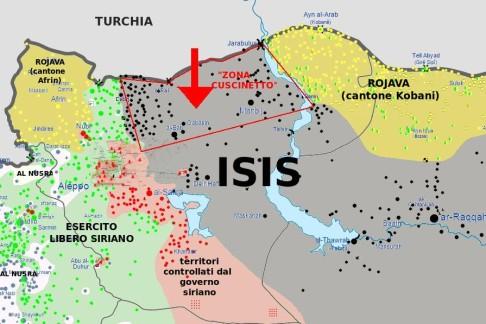"""""""Zona cuscinetto"""" in Rojava"""