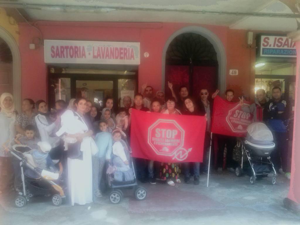 Sfratto rinviato in via Sant'Isaia (foto Social Log)