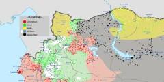 Siria nord-occidentale, situazione al 13 febbriao 2016