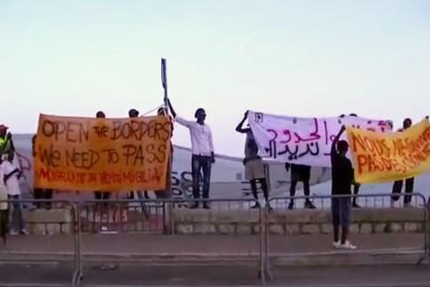 La protesta del 12 luglio a Ventimiglia (frame ZicTv)