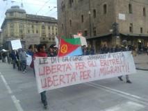 Corteo solidarietà reclute eritree (foto Zic)