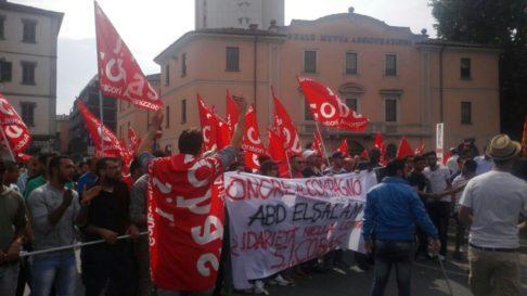 Corteo Piacenza dopo morte operaio (foto Zic)