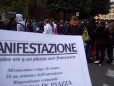 4. Manifestazione studenti medi anti-Gelmini 10 ottobre 2008