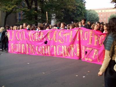 5. Manifestazione studenti medi anti-Gelmini 10 ottobre 2008