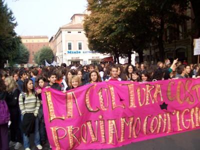 6. Manifestazione studenti medi anti-Gelmini 10 ottobre 2008